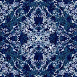 Victorian Era royal & sky blue 1