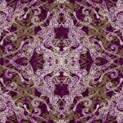 Victorian Era purple & olive