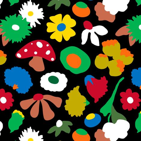 Mod Mushroom Floral fabric by elliottdesignfactory on Spoonflower - custom fabric