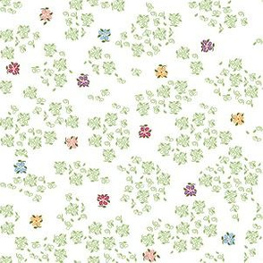 scattered floral single white background 1800 d