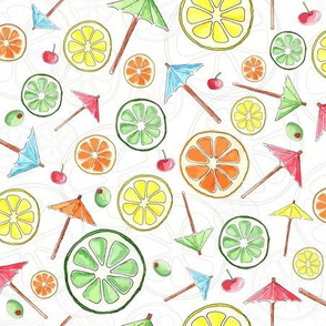 Cocktails Anyone? Tossed Pattern