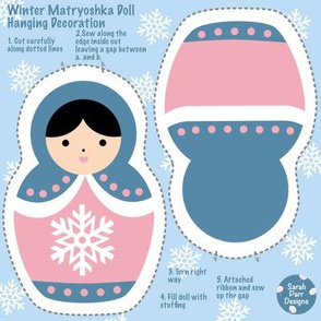 Cut & Sew Winter Matryoshka