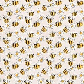Hand drawn bees