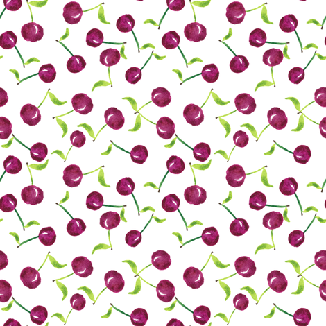 Fresh cherries fabric by jjdesignwithlove on Spoonflower - custom fabric