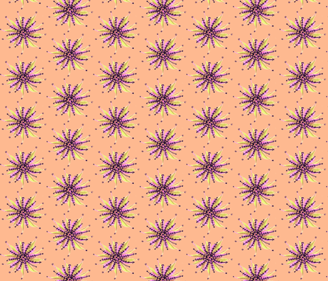 Star Flower-l fabric by unclemamma on Spoonflower - custom fabric