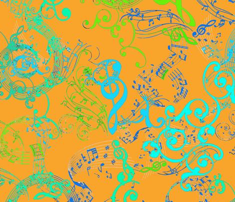 Music Victorian Notes On Drugs Orange Wallpaper