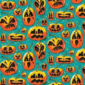 Jack o Lanterns SMALL pattern