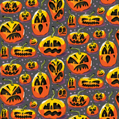 Jack o Lantern - Purple Small