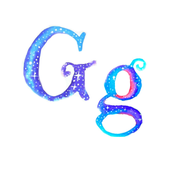 Cosmic Monogram - G- 8 inch Swatch