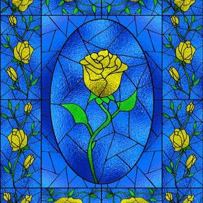 StainedGlass YellowRose