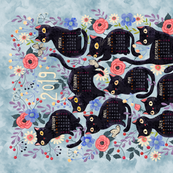 2019cat-calendar-teatowel-blue