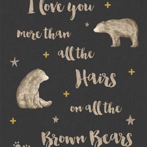 I love you more, Brown Bears