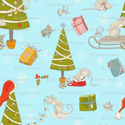 decorating the christmas tree - large