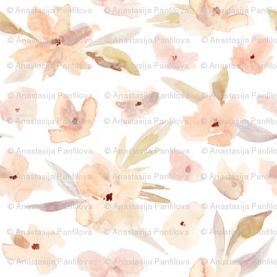 Watercolor elegant flowers 1