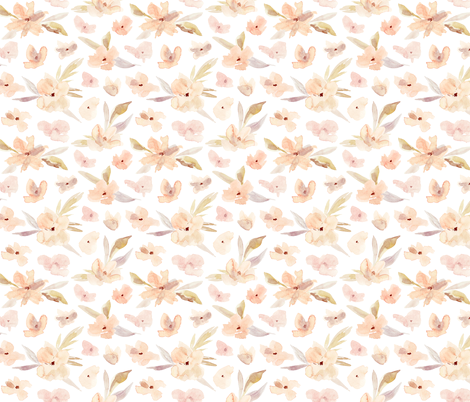 Watercolor elegant flowers 1 fabric by eclosque on Spoonflower - custom fabric