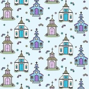 Springtime Chapels (light blue)