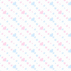 Yorkie - Pink & Blue Background