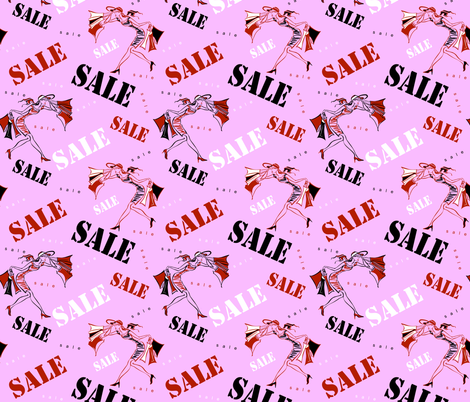 Sale. Shopping on site. Girls on shopping.  fabric by olga_griga on Spoonflower - custom fabric