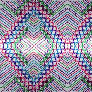extreme doodle pink purple blue dancing