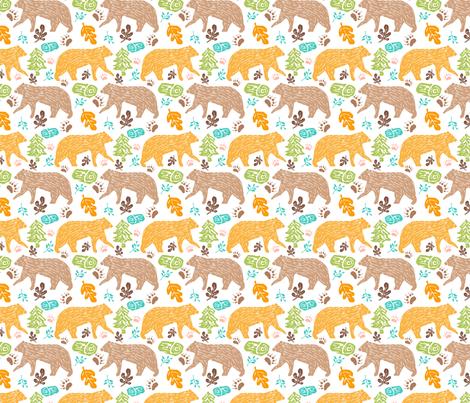 Walking Bears 2 fabric by sobonnydesigns on Spoonflower - custom fabric