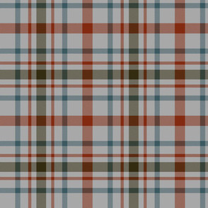 "MacDonagh tartan - 8"" weathered on grey"