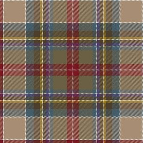 "Prince Charles Edward tartan, 18th century, 8"" weathered"