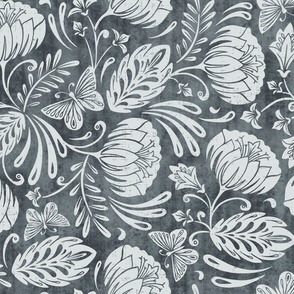 Arabella - Damask Slate Gray