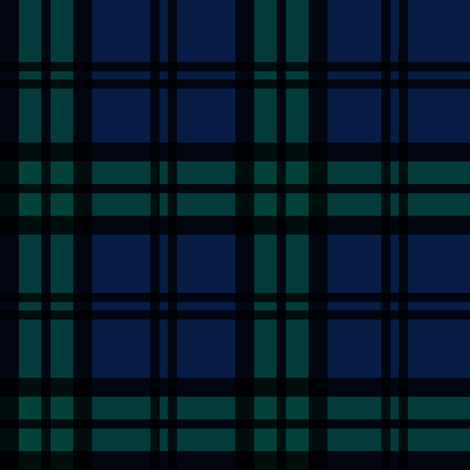 Minimalist Black Watch Tartan Modern fabric by elliottdesignfactory on Spoonflower - custom fabric