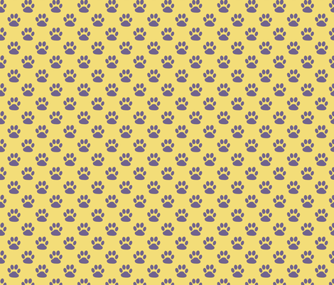 Polka Paws in the Sunset fabric by debra_may_himes,_asid on Spoonflower - custom fabric