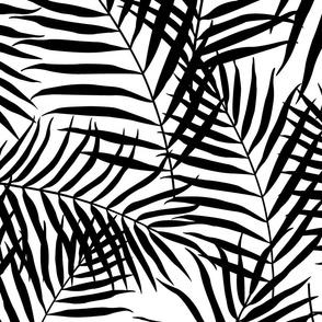Palm Print Black on White