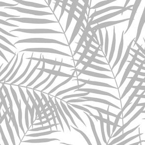 Palm Print Gray on White