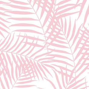 Palm Print Blush Pink on White