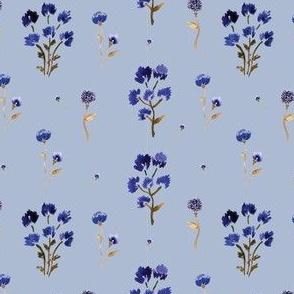 steel blue wildflowers