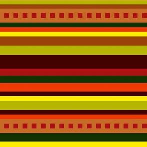 BN11 - Variegated Stripes in Brown - Orange - Red - Yellow - Green - crosswise