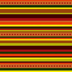 BN11 - Narrow Variegated Stripes in Brown - Orange - Red - Yellow - Green - crosswise