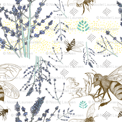Russian Sage and Bumblebees