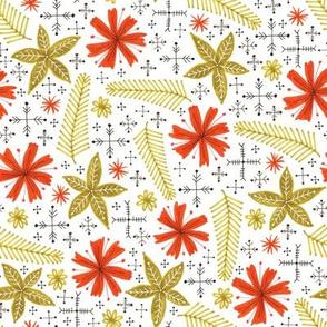 festive vintage style floral