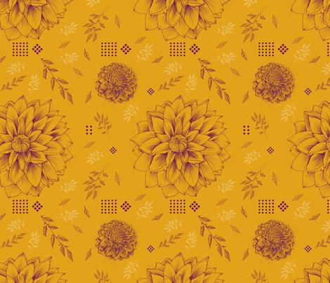 Autumn Floral fabric by nicoletlaursen on Spoonflower - custom fabric