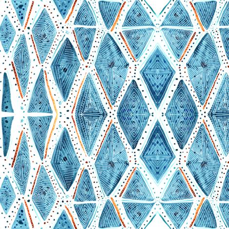 Jubilee — diamonds, dots and lines  fabric by nicoletlaursen on Spoonflower - custom fabric