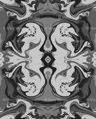 BN1 - Kissing Cousins in Monochromatic Grey - Large