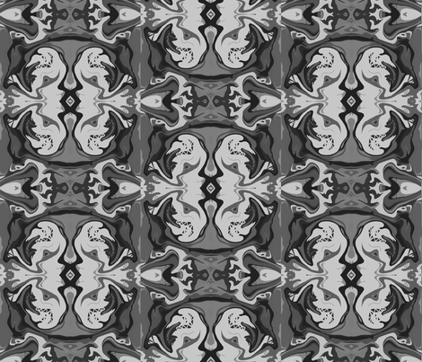 BN1 - Kissing Cousins in Monochromatic Grey - Large fabric by maryyx on Spoonflower - custom fabric