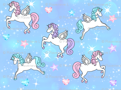 2 Pegasus winged unicorns pegacorns glitter sparkles stars universe galaxy sky purple blue violet pink gems jewels diamonds topaz hearts amethyst  crystals bubbles kawaii adorable cute horses pony ponies  wings