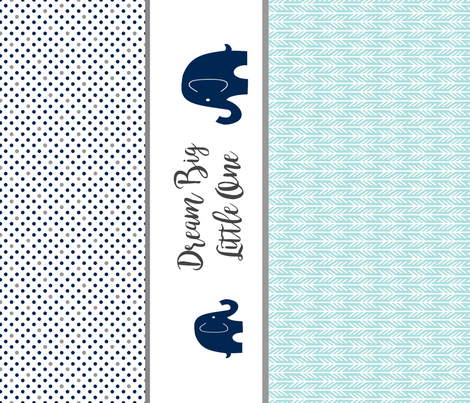 Dream Big with Elephants fabric by sewluvin on Spoonflower - custom fabric
