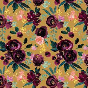 valentina plum rose on gold