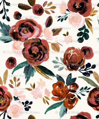 Valentina Vintage Rust Rose - cream