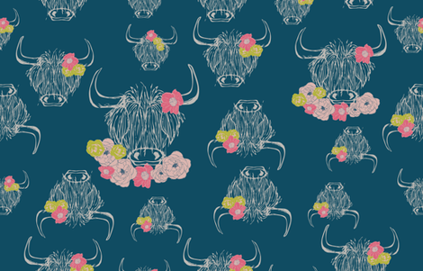 Stop to smell the wildflowers fabric by natty1 on Spoonflower - custom fabric