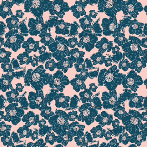 Wild Rose-spring-02 fabric by natty1 on Spoonflower - custom fabric