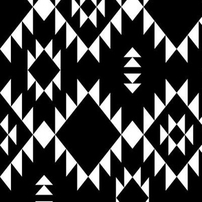 Navajo - Black & White - Vertical