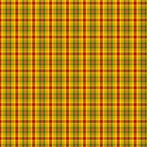 BN11 - Summer Romp Crisscross Plaid in red - orange - yellow - green - Tiny