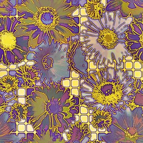 _Flowers grid-purple and gold